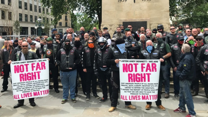 Not far right all lives matter protesters Bristol