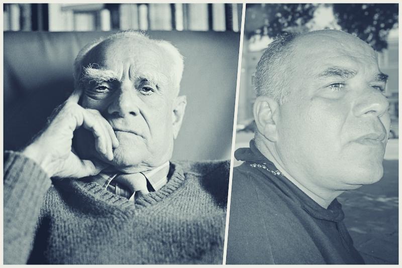 Ο Αλμπέρτο Μοράβια στο εργαστήρι του Δημήτρη Παπαδημητρίου