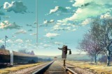 makoto-shinkai-clouds-sky-track-girl-train