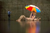 Couple under an Umbrella by Australian artist Ron Mueck