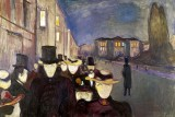 Evening on Karl Johan Street Munch