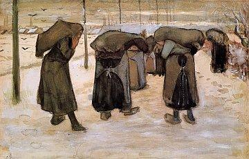 7-VincentVanGogh Women-Miners-Carrying-Coal 1881-82