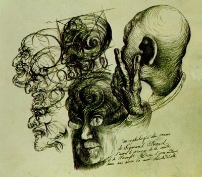 dali sigmund freud e28093 morphology of skull of sigmund freud 1938