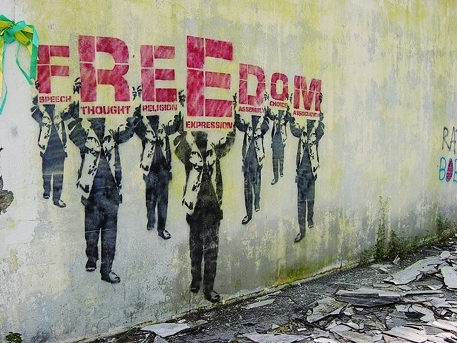 freedom graffiti creative commons flickr