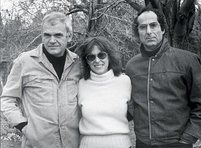 Philip Roth with Milan Kundera