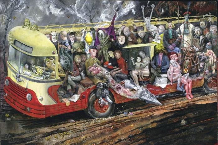 Επιβάτες ενός «λοξού» λεωφορείου