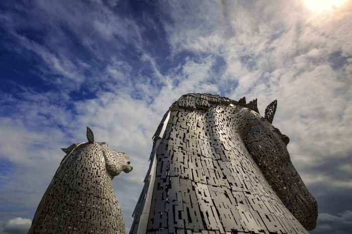 horse head sculptures Scotland