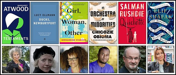 Booker 2019 shortlist covers and authors
