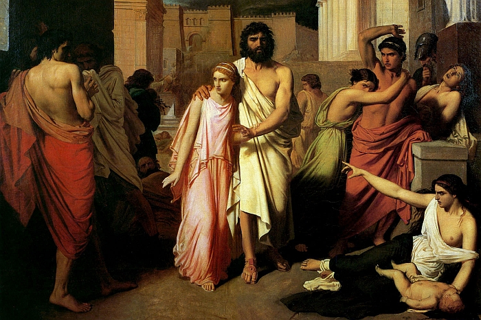 Jalabert Charles Francois the Plague of Thebes